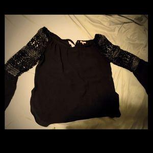Women's black dress blouse size medium.
